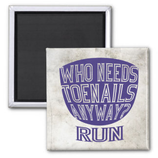 Runners Toenails 2 Inch Square Magnet