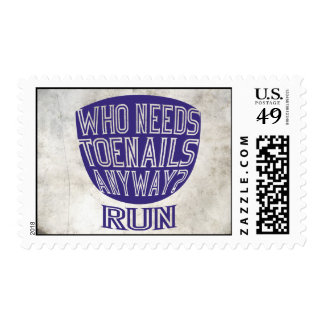 Runners Toenails Postage Stamp
