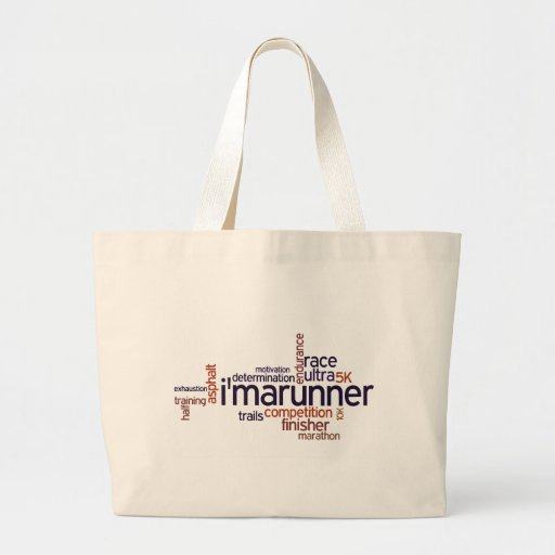 Runner's Words Canvas Bags