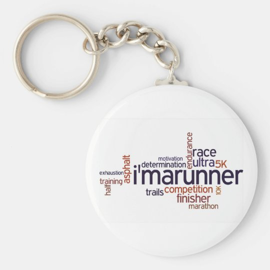 Runner's Words Keychain