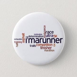 Runner's Words Pinback Button