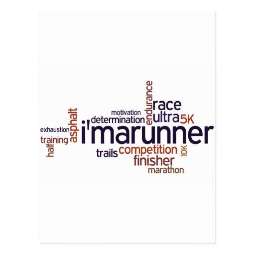 Runner's Words Postcard
