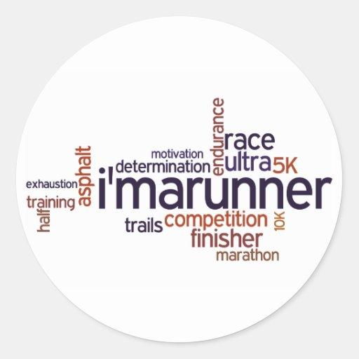 Runner's Words Stickers