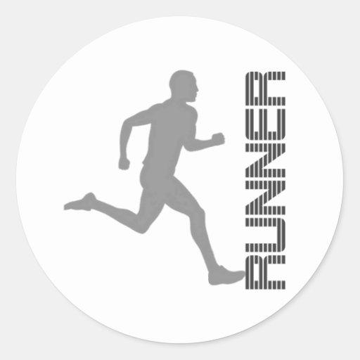Runners Zone Classic Round Sticker