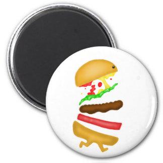 Runnin burger 2 inch round magnet