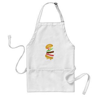 Runnin burger adult apron