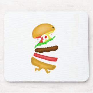 Runnin burger mouse pad