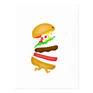 Runnin burger postcard