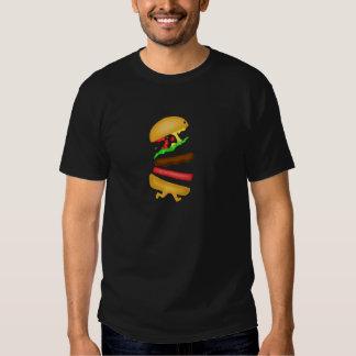 Runnin burger tee shirt