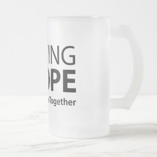 Running4Hope Frosted Glass Beer Mug