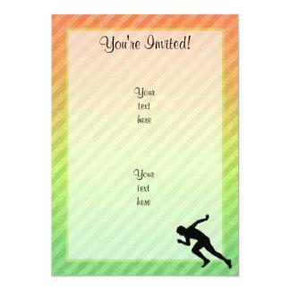 Running 5x7 Paper Invitation Card