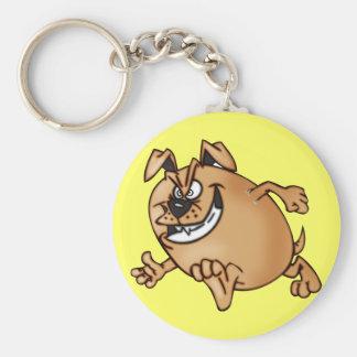 Running a Race Cartoon Dog Basic Round Button Keychain