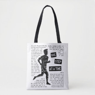Running After Goals Determination Tote Bag