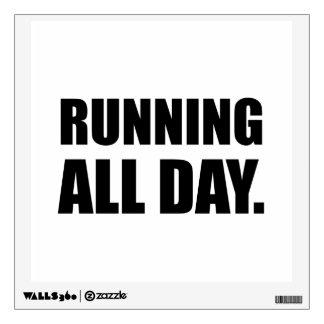 Running All Day Wall Sticker
