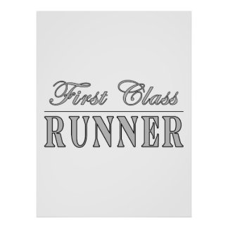 Running and Runners : First Class Runner Posters