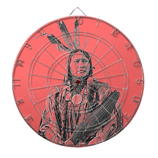Running Antelope Sioux Dartboard With Darts