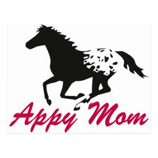 Running Appaloosa Appy Mom Post Cards