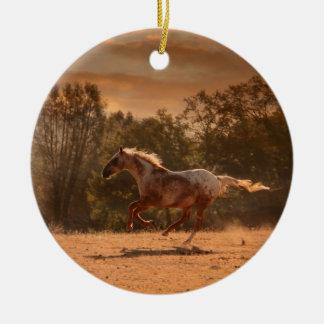 Running Appaloosa Ornament