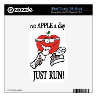 running apple3 iPod touch 4G skin