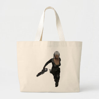 Running Armed Futuristic Woman Bag