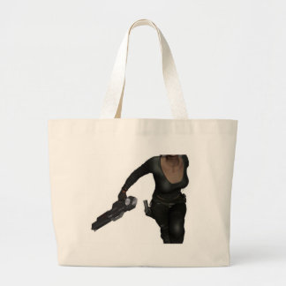 Running Armed Futuristic Woman Bag 2