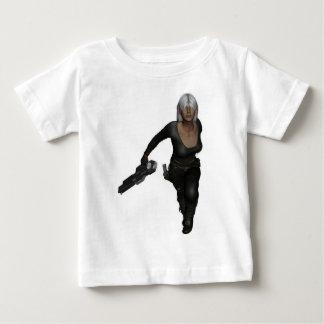 Running Armed Futuristic Woman Shirt Infant