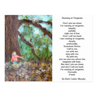 Running at Tangents Postcard