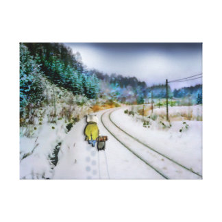 Running Away From Home Canvas Print