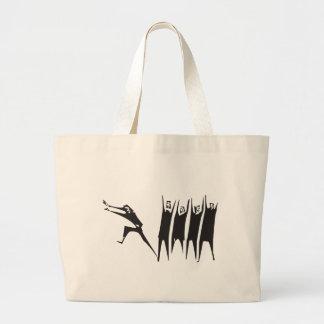 Running Away Large Tote Bag