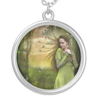 Running Away (Necklace/Pendant) Round Pendant Necklace