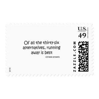 Running Away quote Stamp