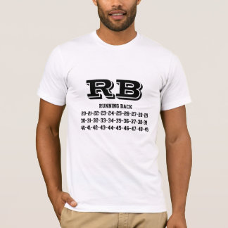 Running Back jersey numbers T-Shirt