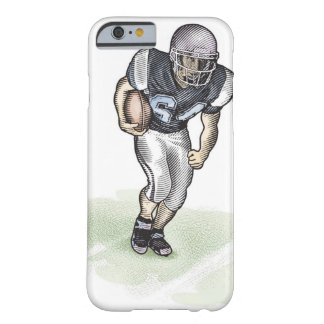 Running Back scratchboard illustration Barely There iPhone 6 Case