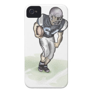 Running Back scratchboard illustration Case-Mate iPhone 4 Case