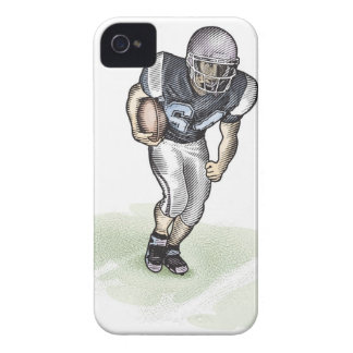 Running Back scratchboard illustration iPhone 4 Cover