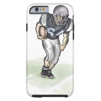 Running Back scratchboard illustration Tough iPhone 6 Case