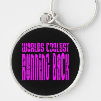 Running Backs Pink Worlds Coolest Running Back Key Chains