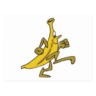 running banana postcard