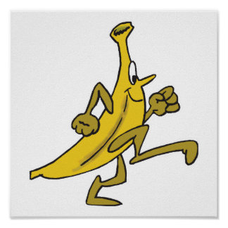 running banana poster
