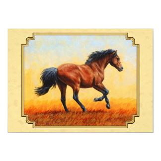 Running Bay Horse Yellow Card
