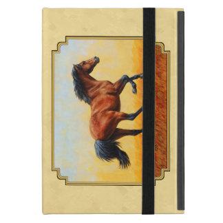 Running Bay Horse Yellow iPad Mini Cases