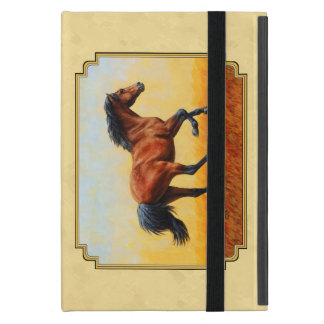 Running Bay Horse Yellow iPad Mini Cover