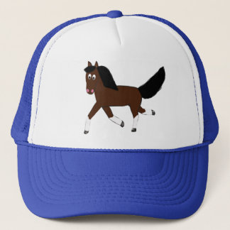 Running Bay Quater horse Trucker Hat