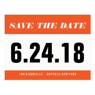 Running Bib - Save The Date Postcard