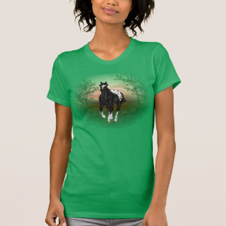 Running Black Appaloosa Horse T-Shirt