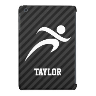 Running; Black & Dark Gray Stripes iPad Mini Retina Cases