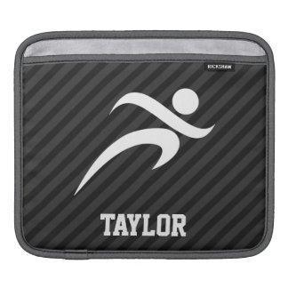 Running; Black & Dark Gray Stripes Sleeves For iPads
