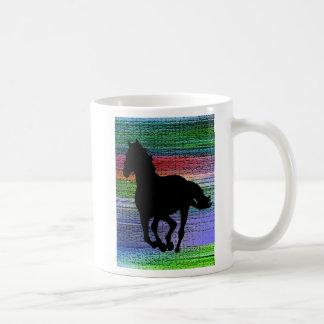 Running Black Horse Mug