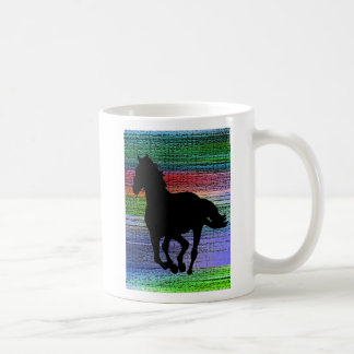 Running Black Horse w/ text Coffee Mug
