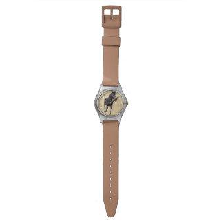Running Black Percheron Horse-lovers Wristwatches
